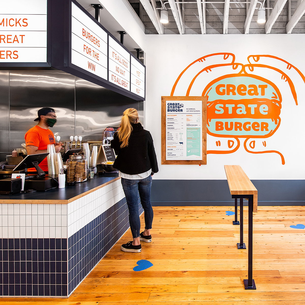 Best Practice Architecture Revives Historic Building for Newest Great State Burger