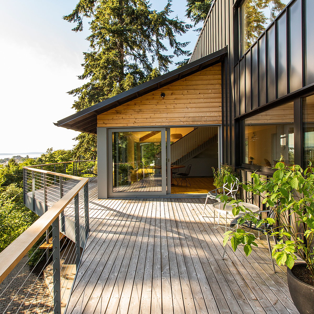 SHED Designs Net-Zero Hillside Refuge with Views of Puget Sound