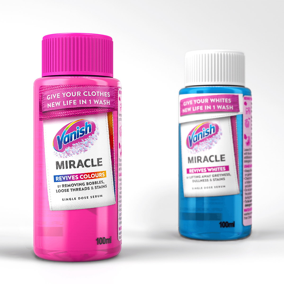 RB Designs Packaging and Brand Experience for 'Vanish Miracle Revives Colours'