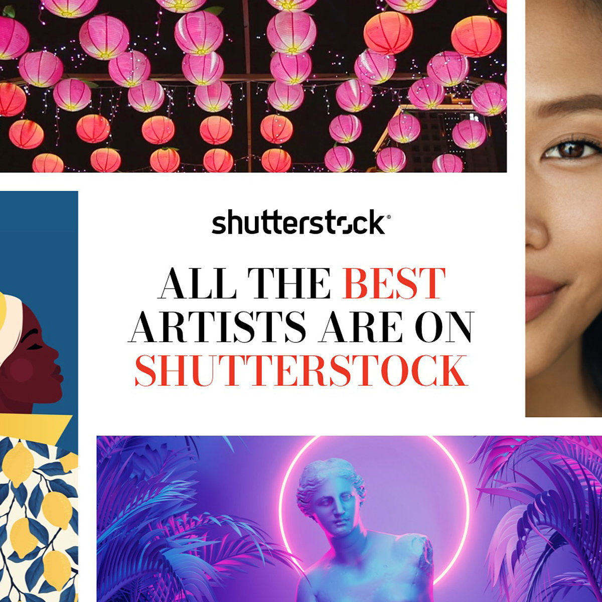 Shutterstock Launches 'All The Best Artists' Campaign
