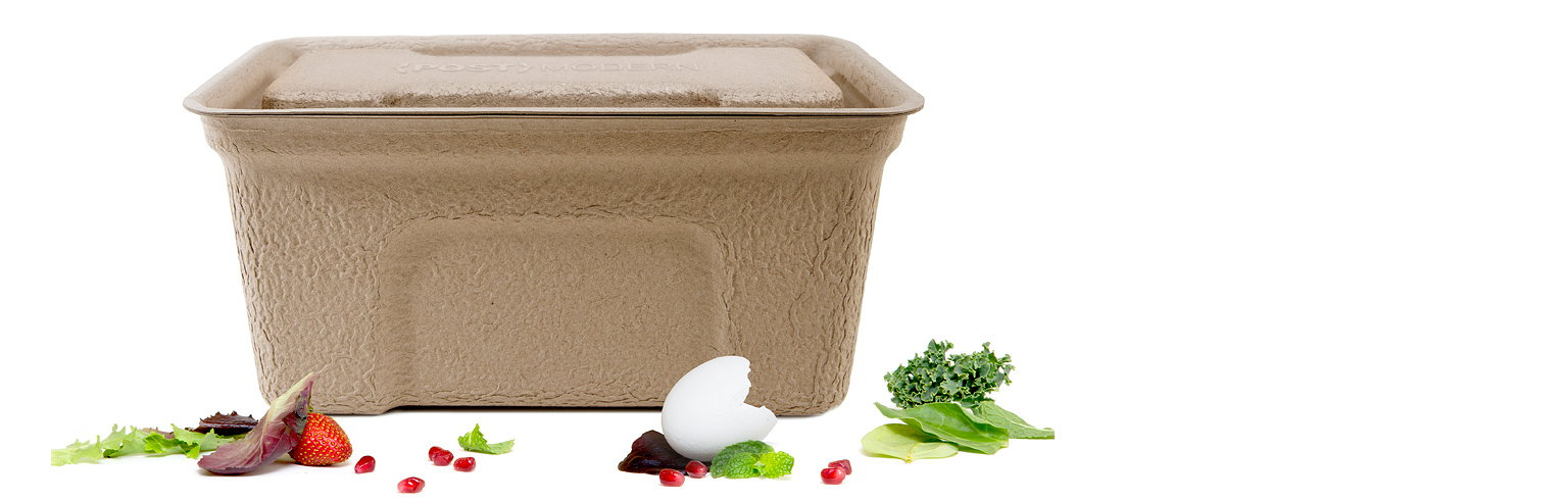 post modern compostable kitchen compost bin by platform